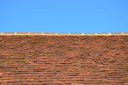 Traditional clay roof tiles. Banco de Imagens