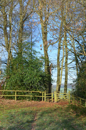 Public footpath and stile gate in the English countryside.