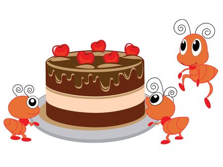 sweetmeat: Ants and cake
