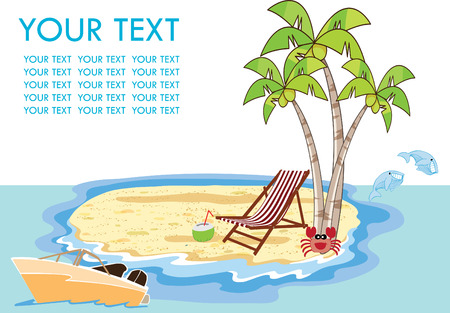 summer holiday: Vector illustration on a summer holiday