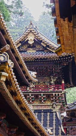 elaborate: Japanese Temple Stock Photo