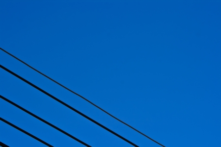 electric line corner in sky photo