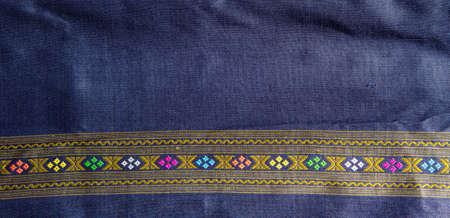 Thai handmade silk pattern photo