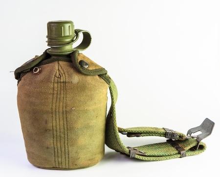 rocznika stołówka wody Army i przykryć ładownica