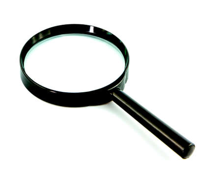 low scale magnification: Magnifying glass isolate on white background