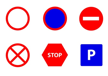 traffic signs Stock Vector - 19914179