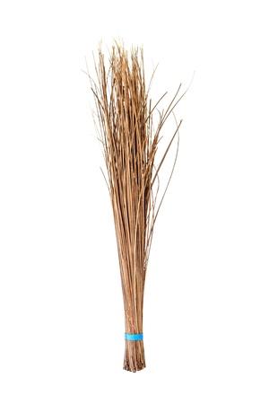 Bezem maken van kokosnoot blad, Handgemaakt product