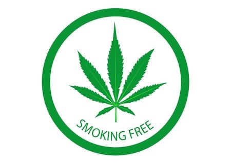 narcótico: fumar maconha Ilustração