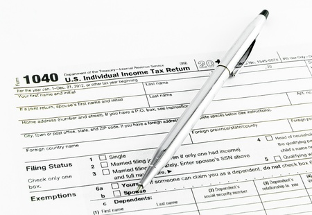 Tax Forms Filing Status Stock Photo Picture And Royalty Free Image