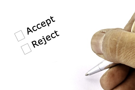 Accept and Reject check box