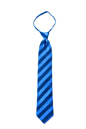 Blue stripe fancy necktie isolate on white background