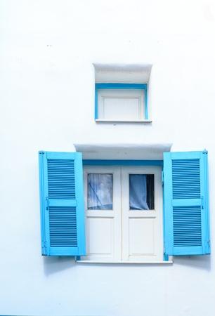 Retro lovely blue window Stock Photo - 21803505