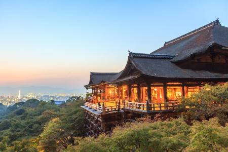 Kiyomizudera Temple at Kyoto 版權商用圖片 - 24060481