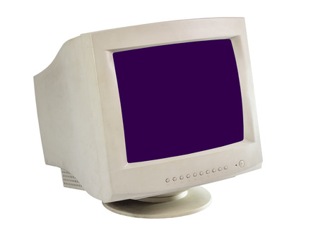 crt: old monitor isolate on white  Stock Photo