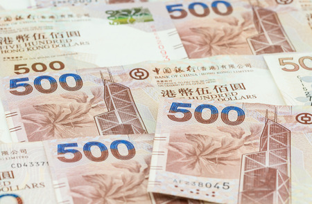Hong Kong dollars background Stock Photo
