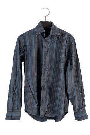 shirt hanger: shirt on a hanger isolated