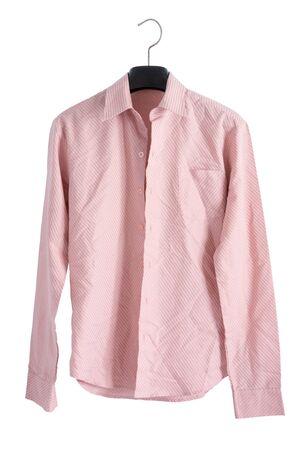 creased: Pink creased shirt