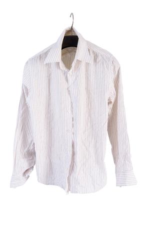 shirt hanger: Grunge shirt on a hanger isolated