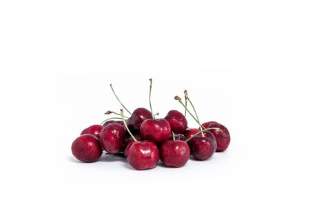 cherries isolated: Sweet fresh cherry isolated on white background