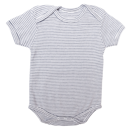 jumpsuite: Striped baby clothes bodysuit isolated on white background