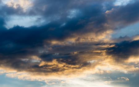 Abstact sky with clouds ,Beautiful sunset sky background