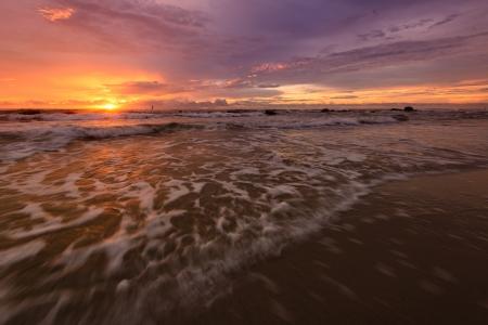 Sunrise at the beach High resolution  photo