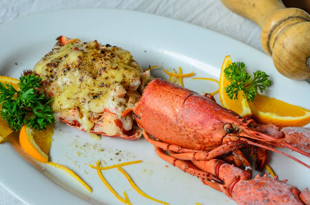 Lobster with cheese photo