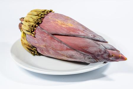 banana blossom is isolated photo