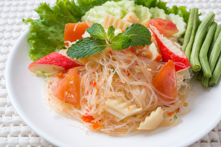 vermicelli salad,Thailand food noodle salad photo