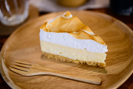 gels: Lemon cheese cake Stock Photo