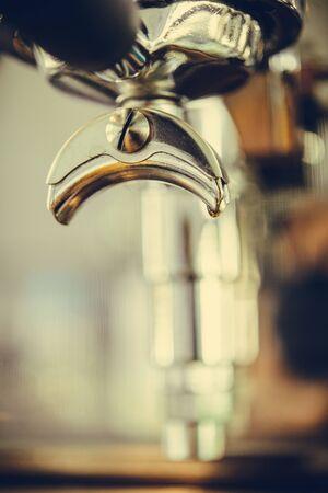 baristas: coffee machine detail in coffee shop