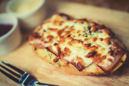 Bread baked with cheese photo