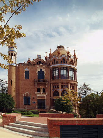 modernisme: Old hospital de la santa creu i Sant Pau in Barcelona  Designed by Louis Domenech i Montaner and built between 1901 and 1930  This building is the largest example of Modernisme catal&Atilde,&nbsp, the famous architectural style of Barcelona
