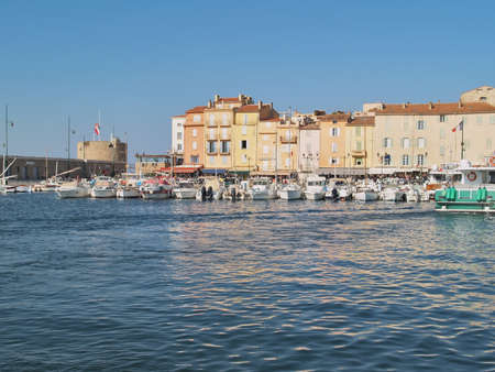 Yacht Harbor of St Tropez, France photo