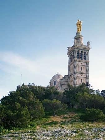 garde: Notre-Dame de la Garde basilica, Central Marseilles, France.