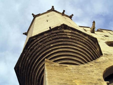 gargouilles: gargouilles de pierre prot�geant Le Palais des Papes � Avignon, France