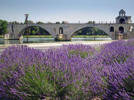 Le pont Saint-B�n�zet-� Avignon, France
