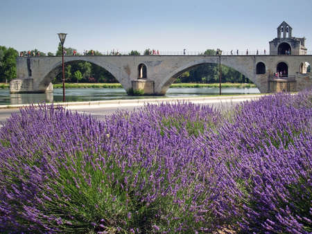 The  St.-Benezet bridge in Avignon, France photo