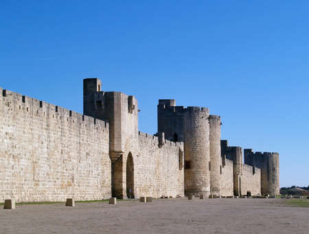 middleages: Aigues Mortes  the part of the fortifications built to protect Crusaders and salt which was extremely precious during middle-ages  South of France, Languedoc