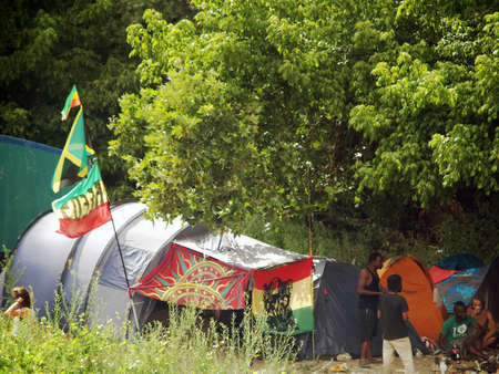 Bagnols sur Ceze, France - 27 july 2012: Garance Reggae Festival from 25 to 28 july. Became internationally famous in Paris, Since 2010 the festival takes place in the sud of France in Bagnols sur c? (30) reinforcing it