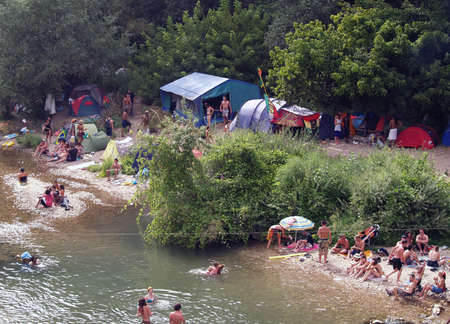 Bagnols sur Ceze, France - 27 july 2012: Garance Reggae Festival from 25 to 28 july. Became internationally famous in Paris, Since 2010 the festival takes place in the sud of France in Bagnols sur c�ze (30) reinforcing it