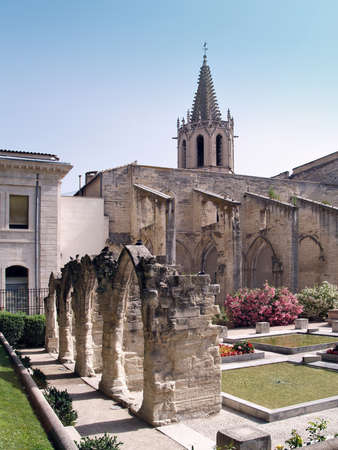 Temple Saint Martial at Square Agricol Perdiguier in Avignon photo