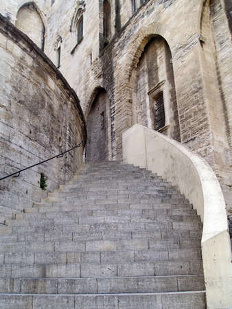 Stairway of The Popes Palace in Avignon, France photo
