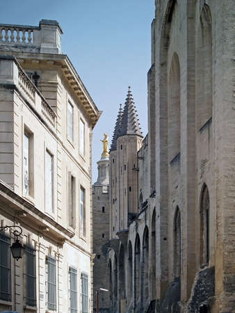 Splendid gothic Popes Palace in Avignon, France  photo