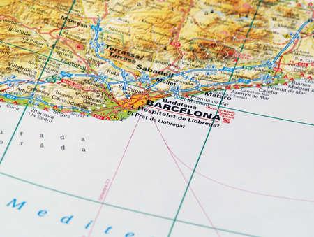 Concentrez-vous sur Barcelone sur la Source de la carte