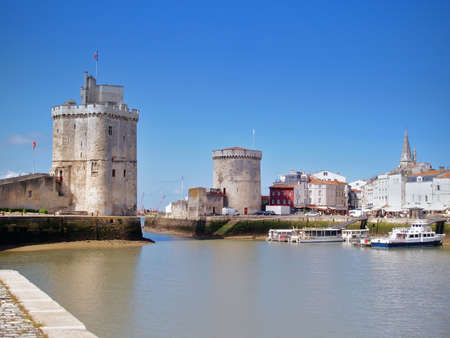 the harbour (old harbor) of  La Rochelle in France , region Charente poitou