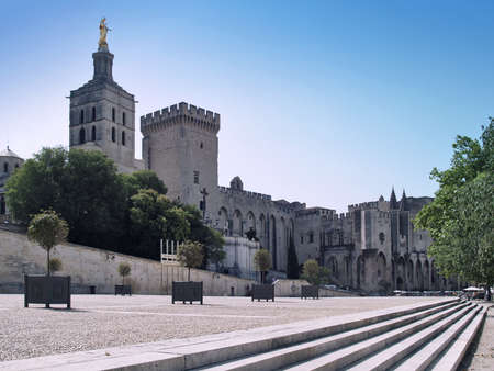 Splendid gothic Popes Palace in Avignon, France