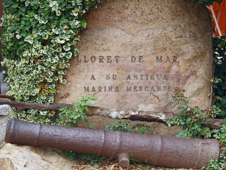 cannon of Lloret de mar, Costa Brava, Spain