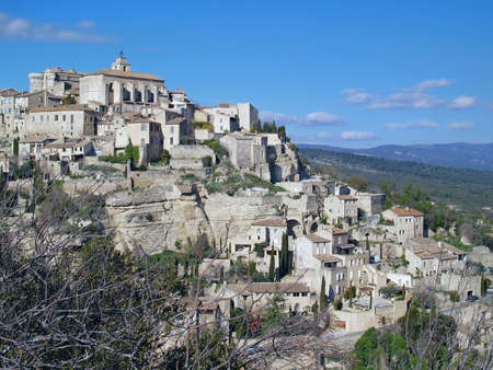 gordes: View at Gordes, the famous city of the Provence, France - one of the