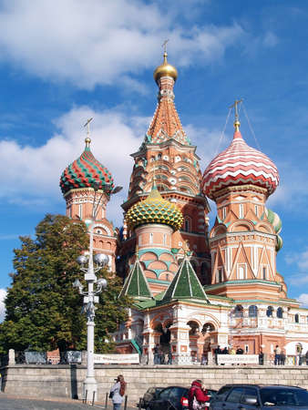 red square moscow: Catedral de San Basilio, la Plaza Roja, Mosc�, Rusia Editorial